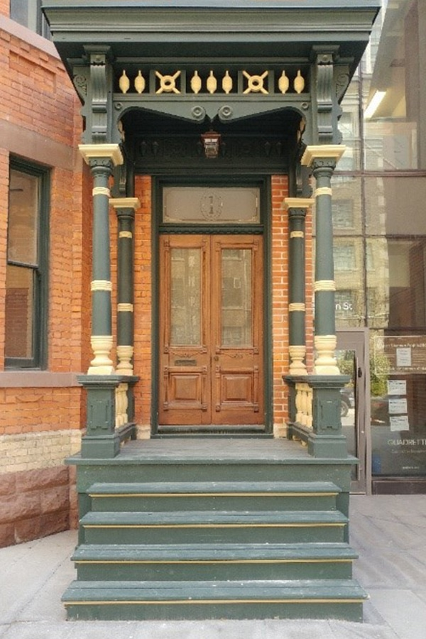 Full-View Doorway WIth Staircase Masonry and Exterior Carpentry Restoration 7 St Thomas Street