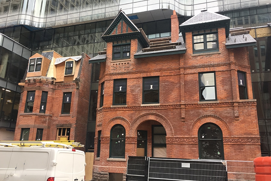 Front Building Construction Proccess for Restoring 7 St Thomas Street