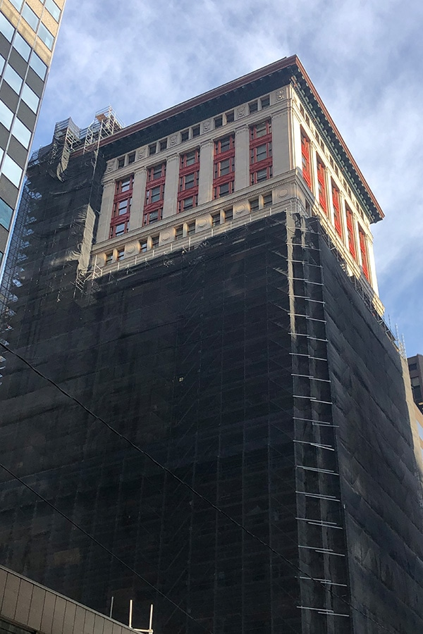 8 King Street Masonry Restoration Work Full Building View and copper window replacement