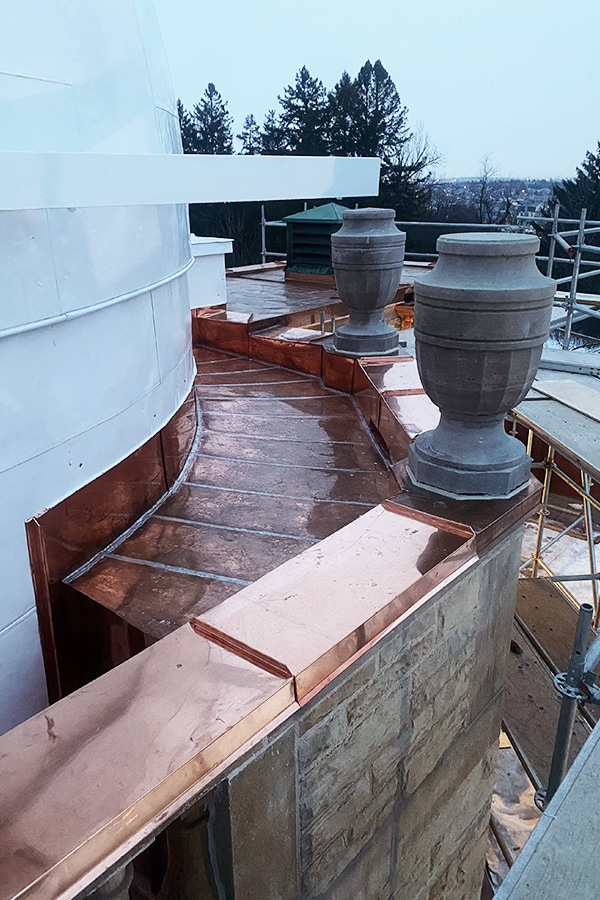 David Dunlop Observatory Scaffolding and Coppersmith Work