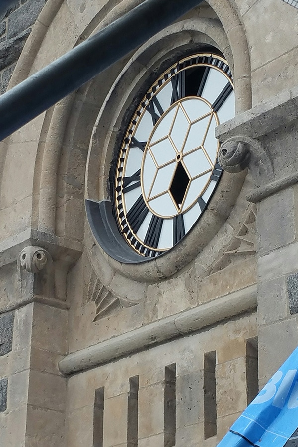 Former Galt Post Office Iconic Cast-Iron Clock restoring