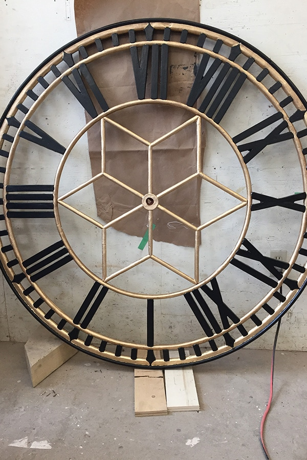 Former Galt Post Office Iconic Cast-iron clock restoring close up