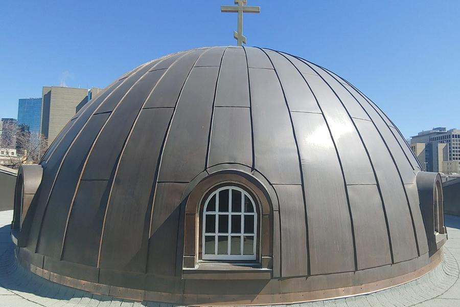 Holy Trinity Russian Orthodox Church Dome Restoration Close Up