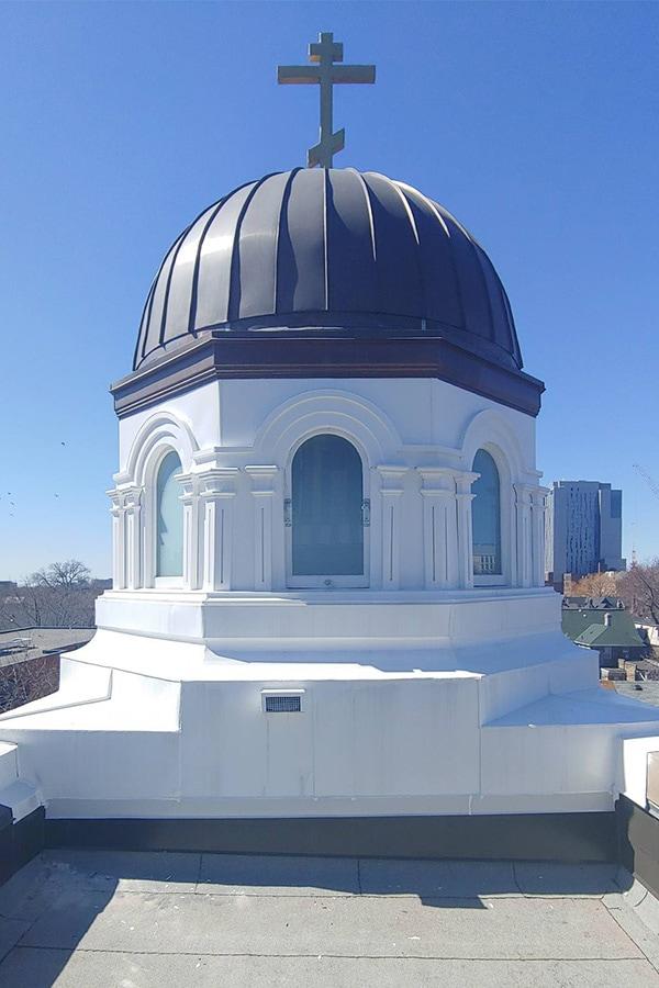 Holy Trinity Russian Orthodox Church Dome Restoration and Building Masonry