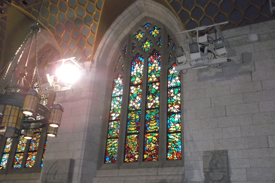 Full Window Shot of Window Restoration House of Commons Chamber