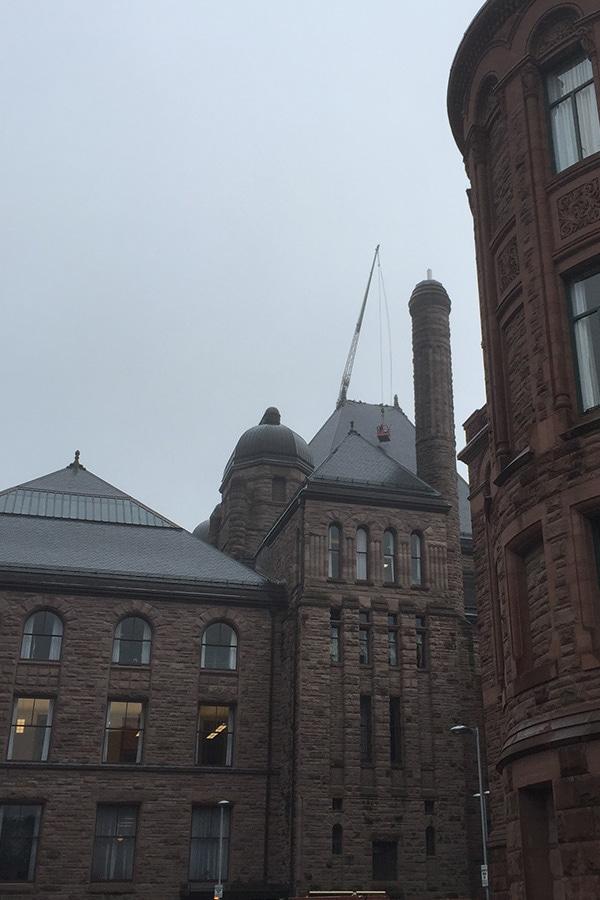 Ontario Legislative Building Slate Roofing and Masonry Full Building View