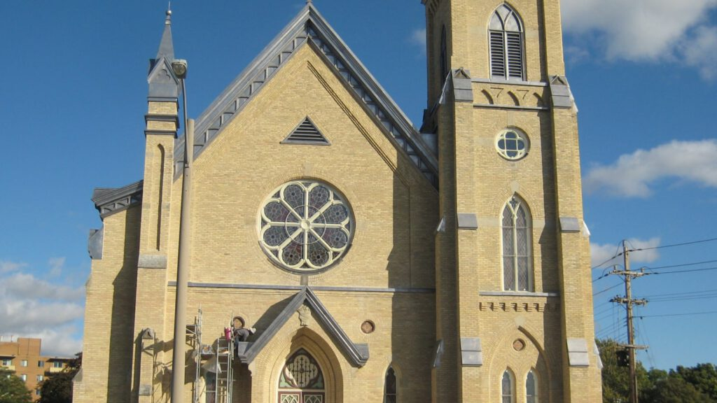 our lady of mercy church sarnia ontario banner