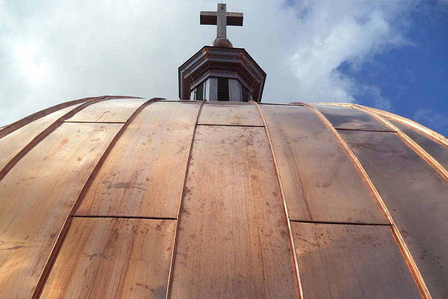 St Augistine's Seminary copper roof metal reconstruction