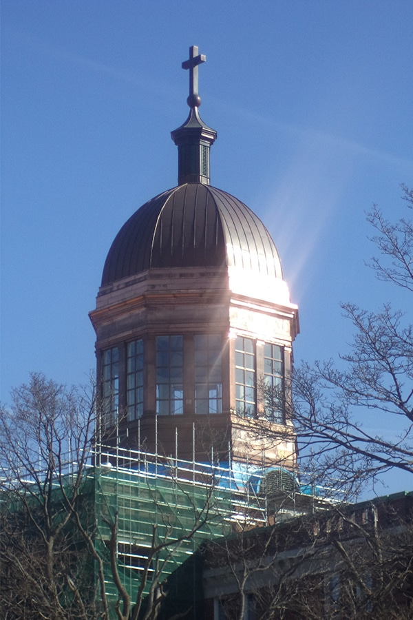 St Augistine's Seminary Restoration of Top Bulding Dome Full View