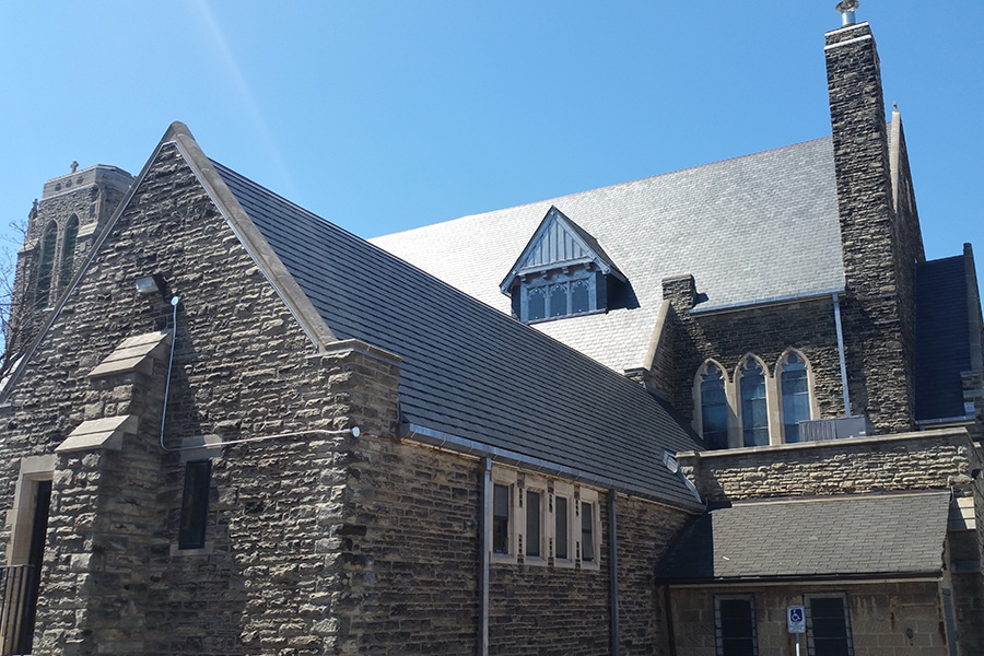 St Brigids Church Slate Roof Replacement Complete View