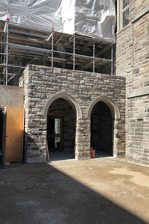 St Peter's Seminary Masonry Work and Process Stone Facade
